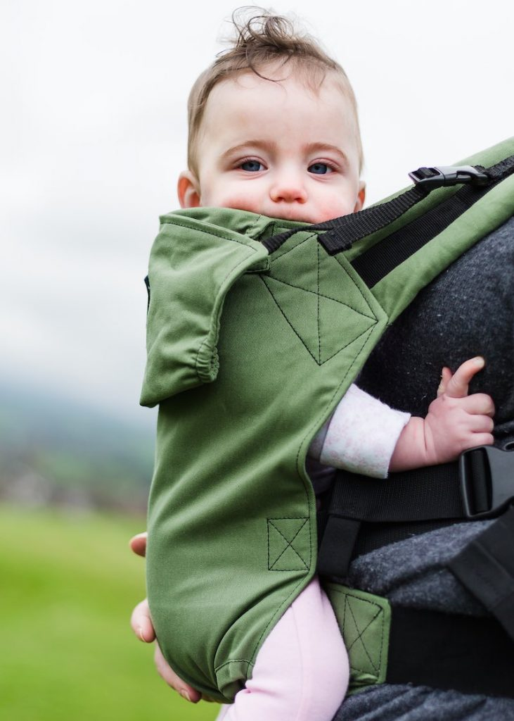KahuBaby Moss Green baby carrier