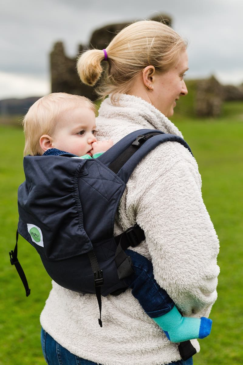 Back carry with KahuBaby Carrier