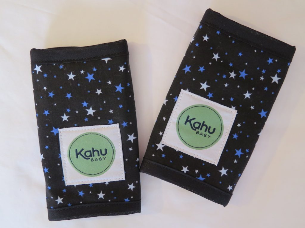 Protect the straps of your baby carrier with KahuBaby teething pads