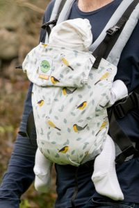 Buy your KahuBaby Carrier, Birdsong in Grey by Jojo Coco Design