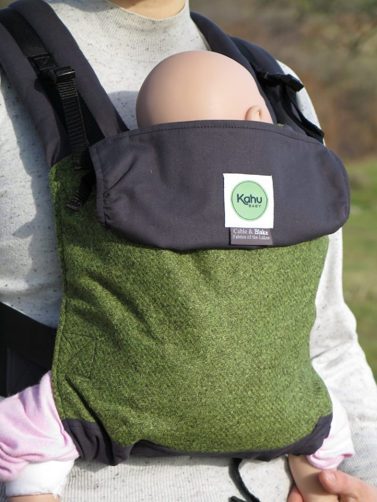 Simple togetherness with KahuBaby's luxury Herdwick tweed baby carrier and organic cotton