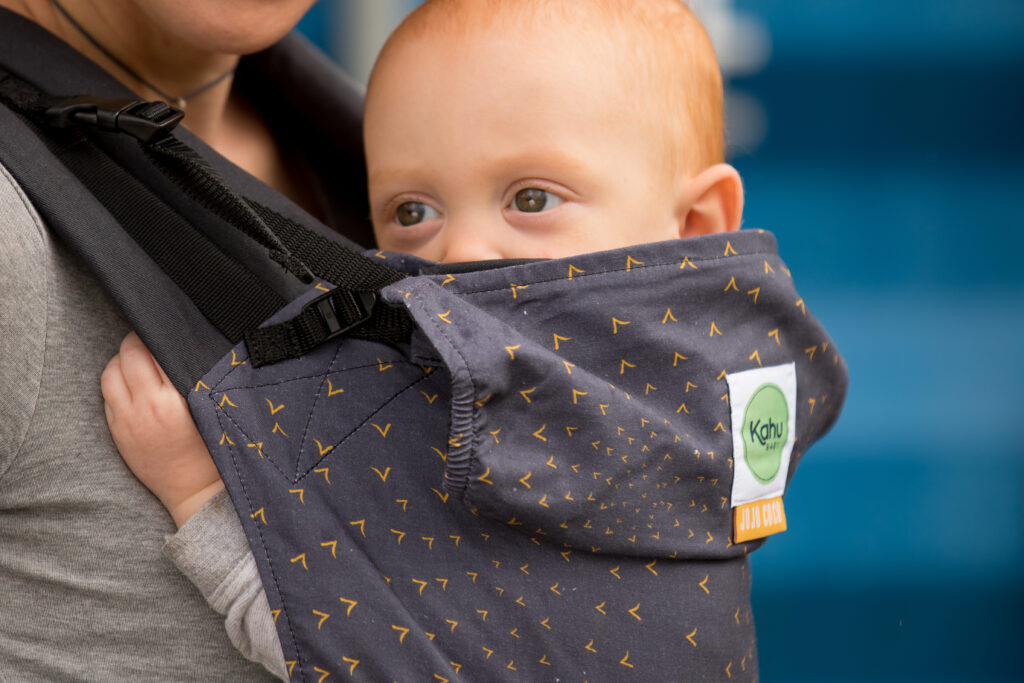 Keep your hands free for baking with toddlers and older children, with KahuBaby