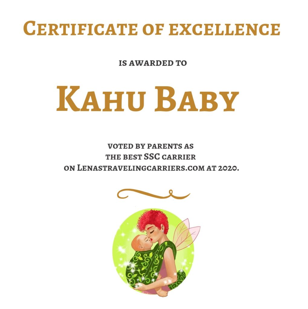 KahuBaby carrier award for Best Baby Carrier 2020