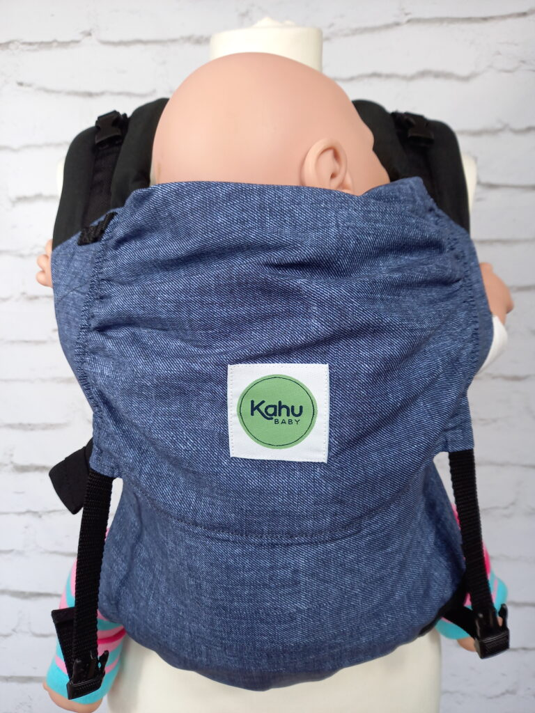 KahuBaby Sunshine in Denim Look, a super lightweight quick-drying baby carrier