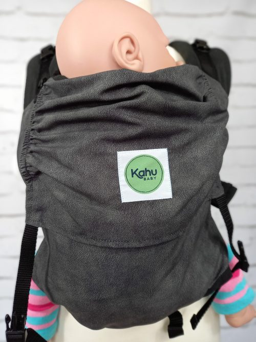 KahuBaby Sunshine in Cloudy Grey, a super lightweight quick-drying baby carrier