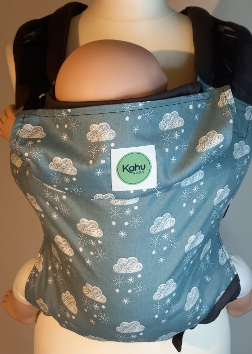 KahuBaby adjustable baby carrier in Laska print